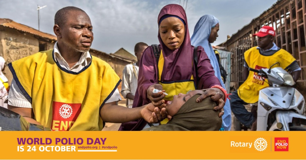 Rotary World Polio Day Poster